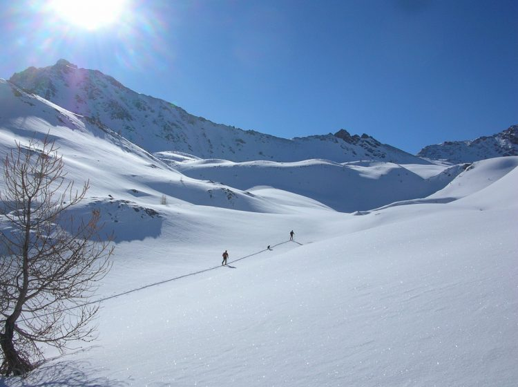 Skiing ski rando