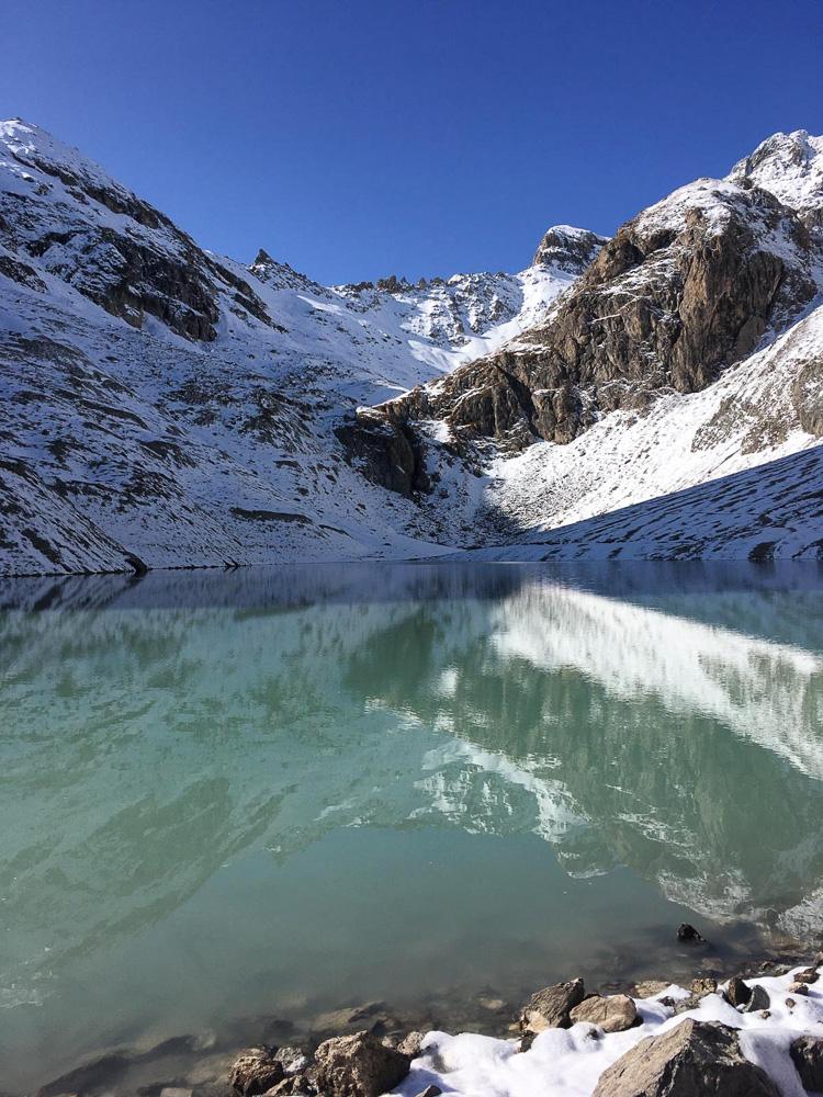 Home automne randonnee lac Beraude